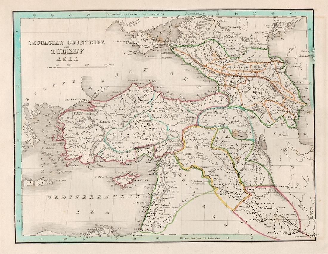 Bradford: Map of Turkey, 1835