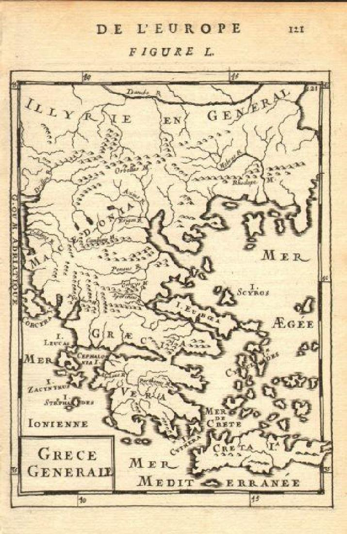 Mallet: Map of Greece with Rivers & Islands, 1683