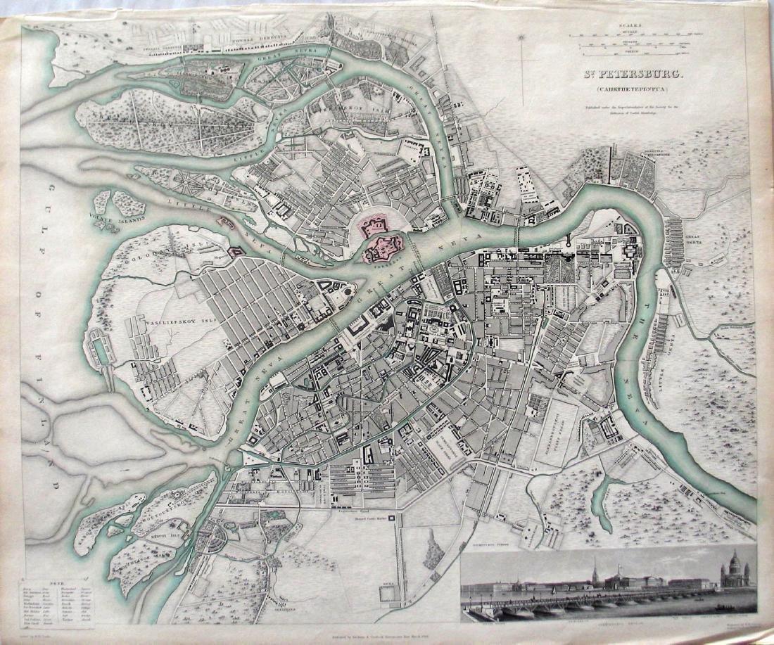 SDUK: Map of St. Petersburg, 1834