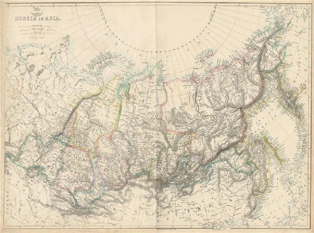 Lowry: Map of Siberia, Russia in Asia, 1863