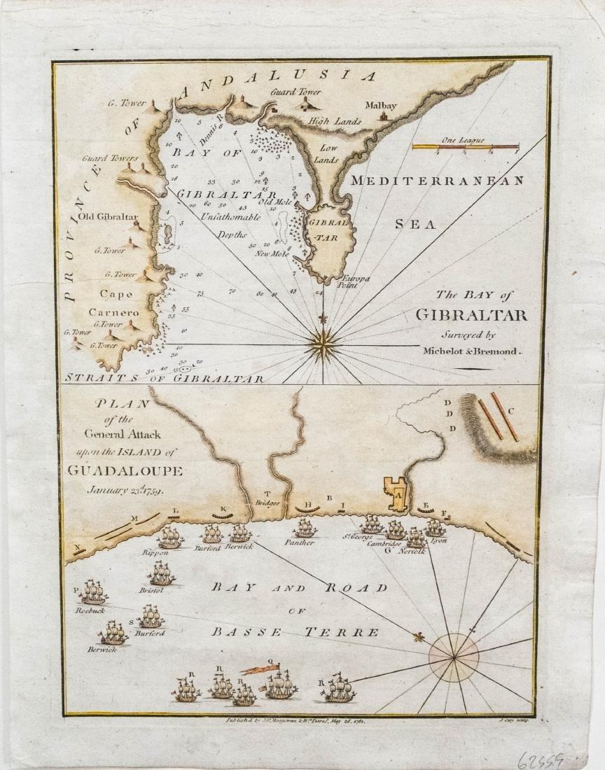 Cary Map of Bay of Gibratar & Guadaloupe, 1781