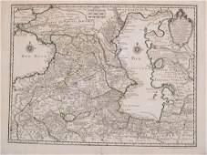DelisleBuache Map of Caucasus  Caspian Region 1730