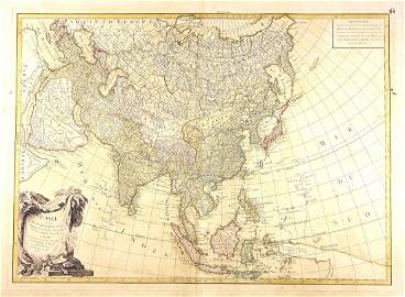 Map of Asia from Janvier's Atlas Moderne, 1760