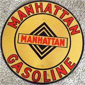 Manhattan Gasoline Porcelain Sign