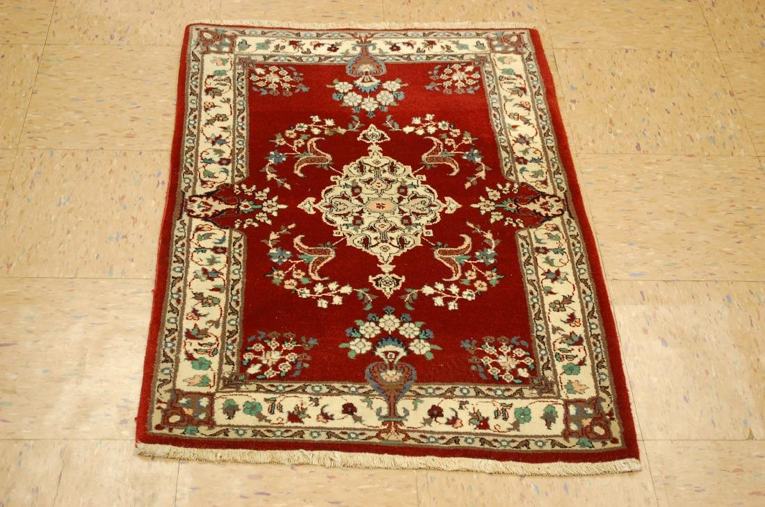 Persian Bijar Vase Design Rug 2x3