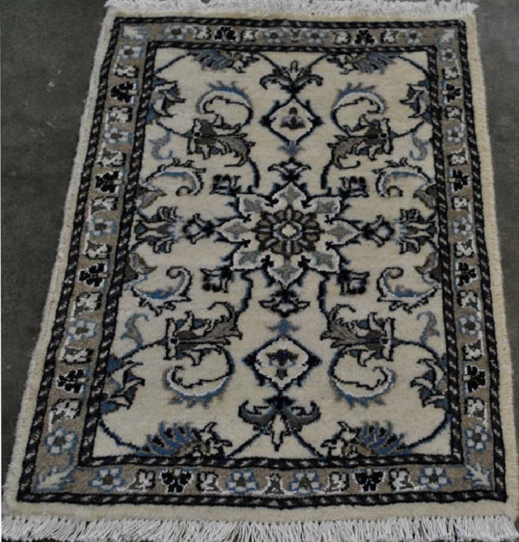 Collectible Handmade Wool/silk Persian Nain Rug 2x3