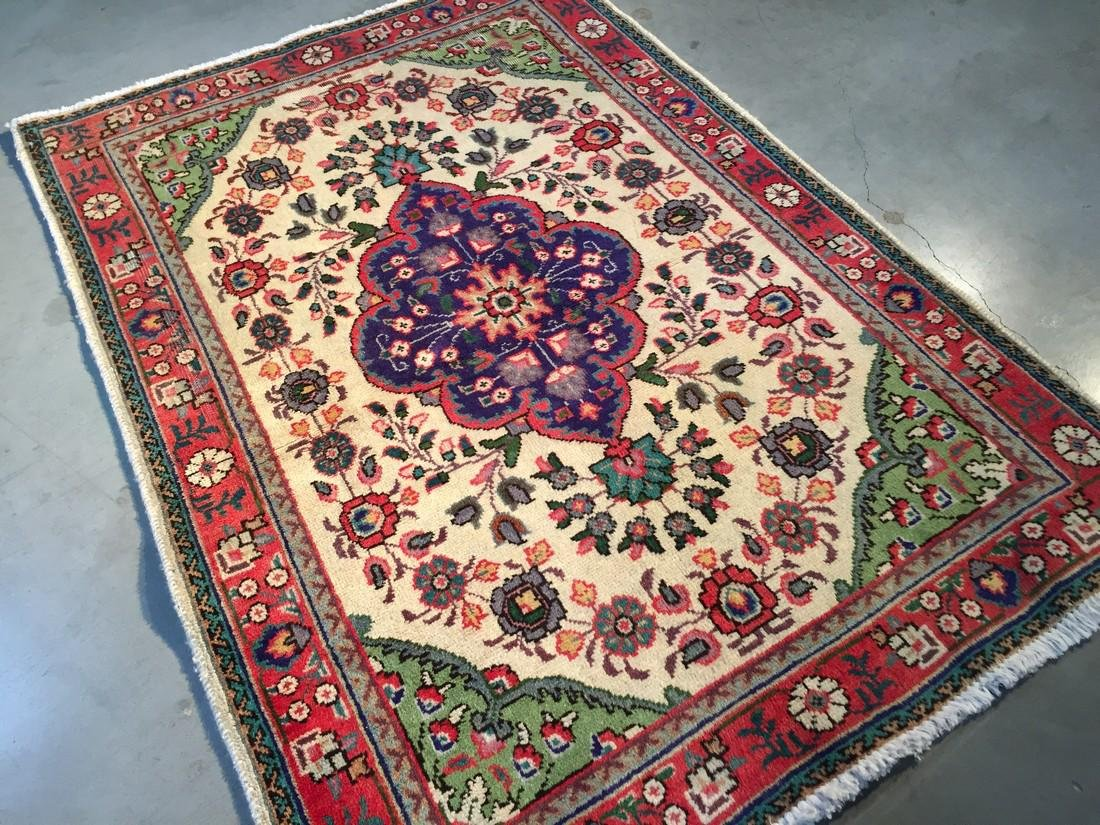 Authentic Hand Made Persian Tabriz Rug 3x5
