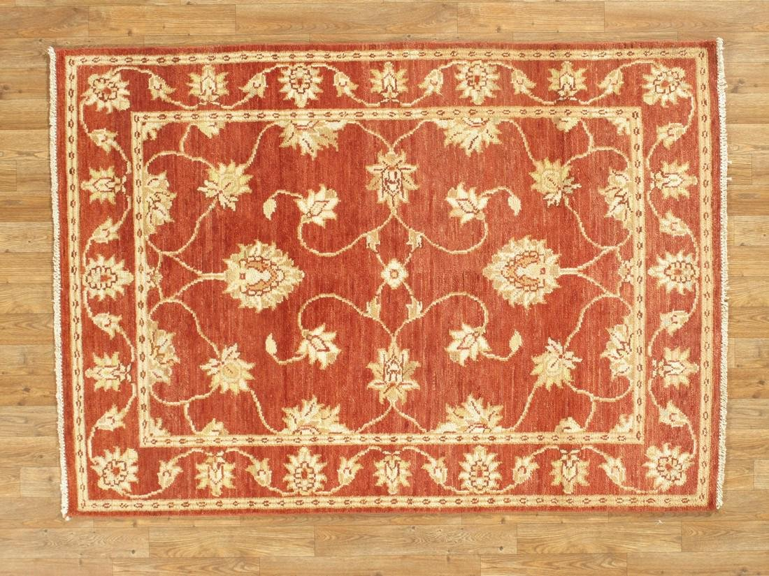 Handmade Wool Indo Chobi Rug 4x6
