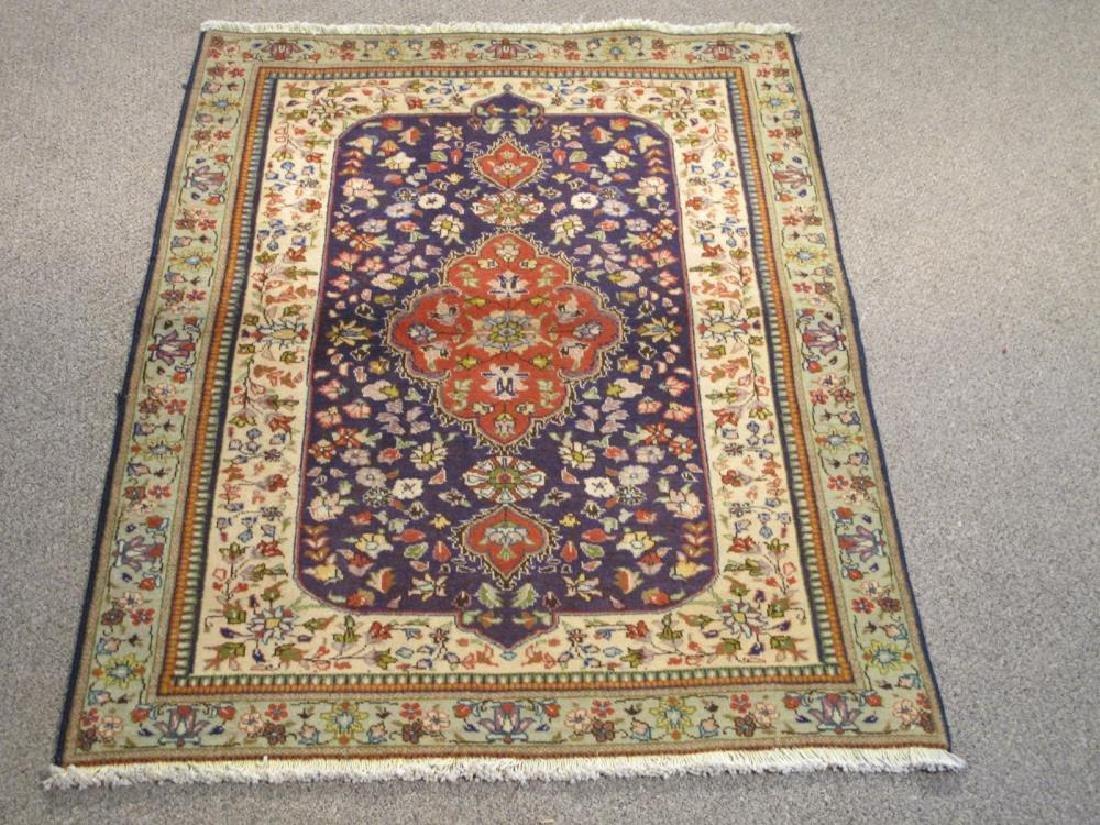 Handmade Semi Antique Persian Tabriz Rug 7x10