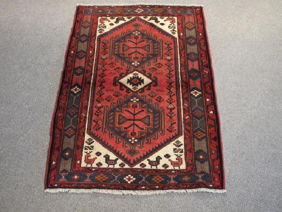 Exquisite Handmade Semi Antique Persian Tabriz Rug 3x5
