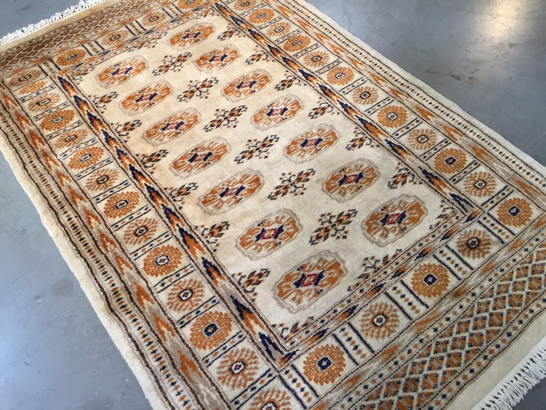 """Hand Knotted Bokhara Wool Rug 3'3""""x5'"""