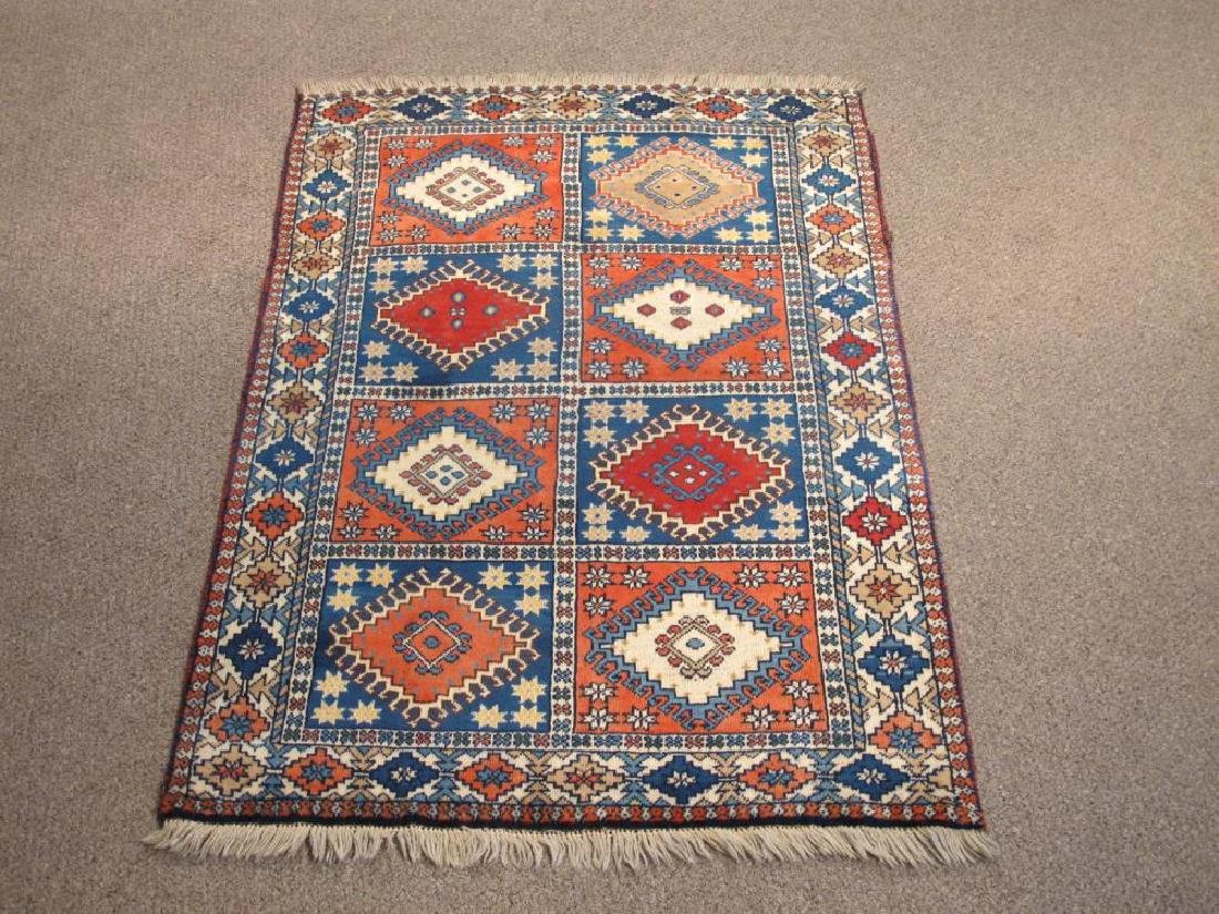 Nicely Contrasted Handmade Persian Yalameh Rug 3x5
