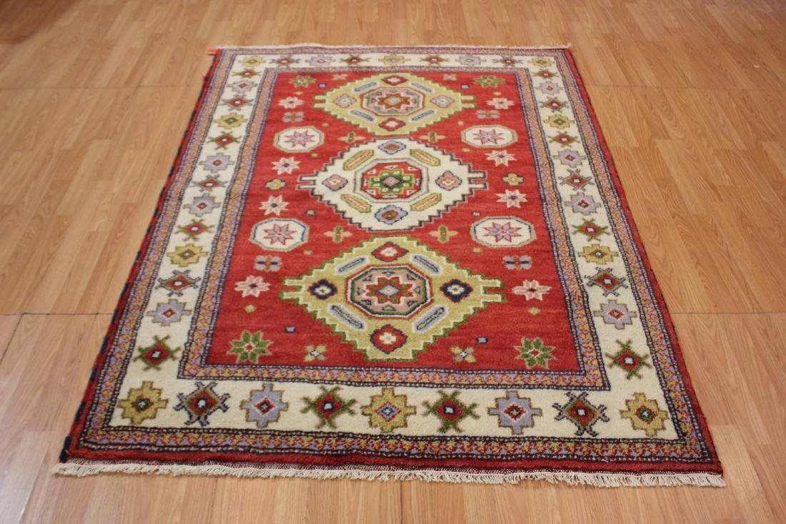 Handmade Tribal Kazak Rug 5x7