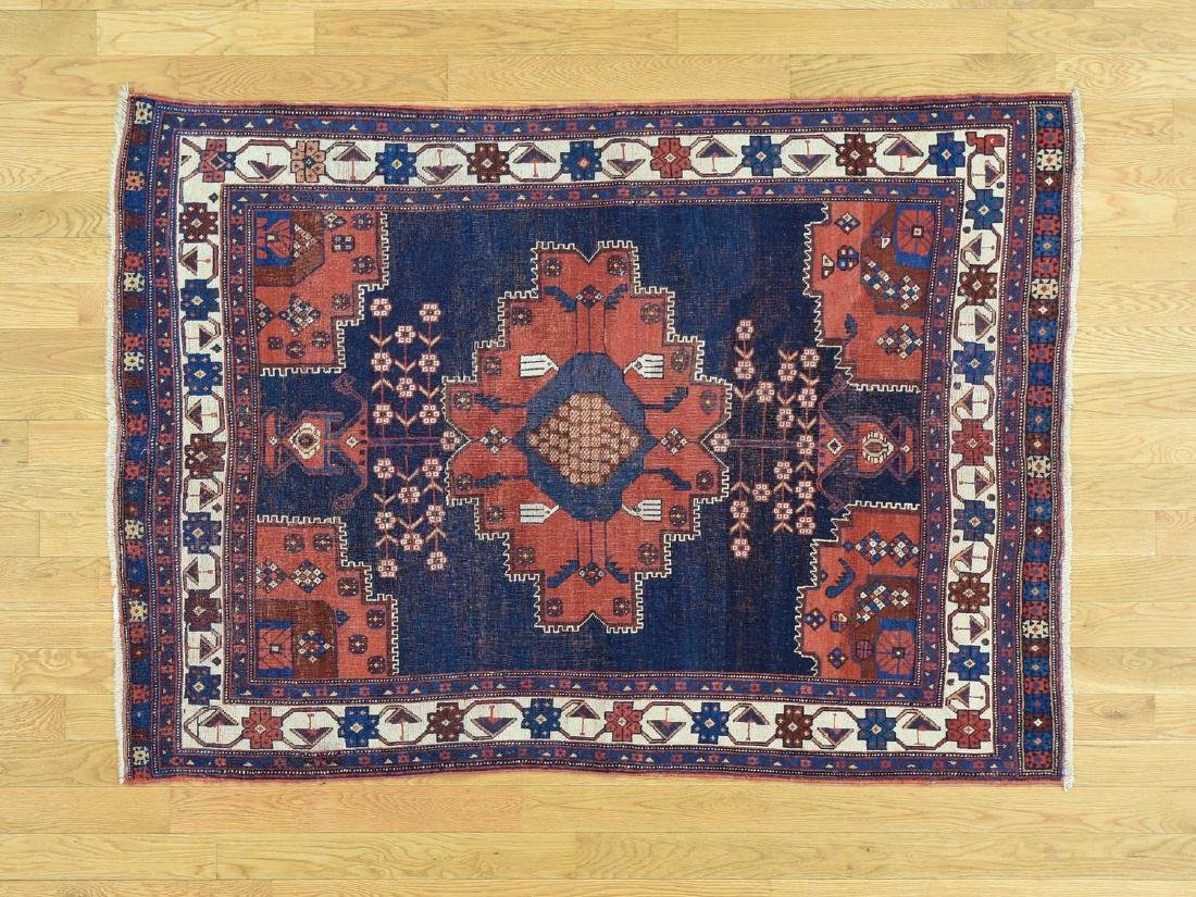 Antique Persian Afshar Hand Knotted Oriental Rug 4x6
