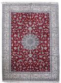 Persian Nain Dasht-e-kavir Handmade Wool Silk Rug 9x13