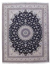 Persian Nain Wool Silk Handmade Rug 11x14