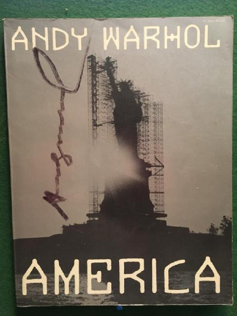 Andy Warhol AMERICA Signed Twice