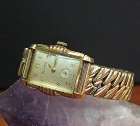 Bulova 20 Jewel Mechanical 10k Gold Case Men's Watch