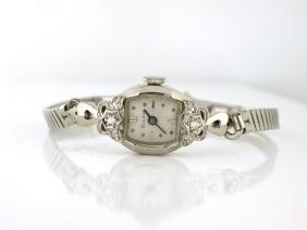 Bulova Diamonds 14k White Gold Watch