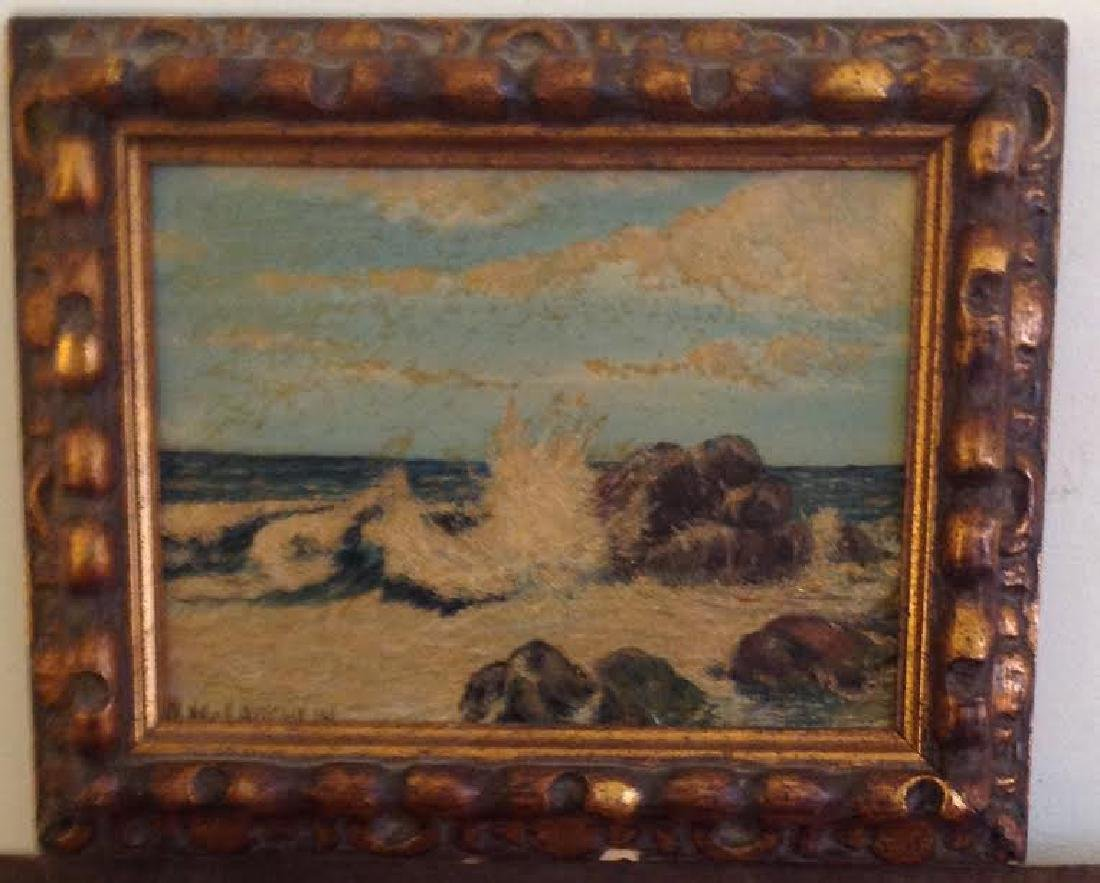 Signed A. Mclaughlin Oil Painting on Board