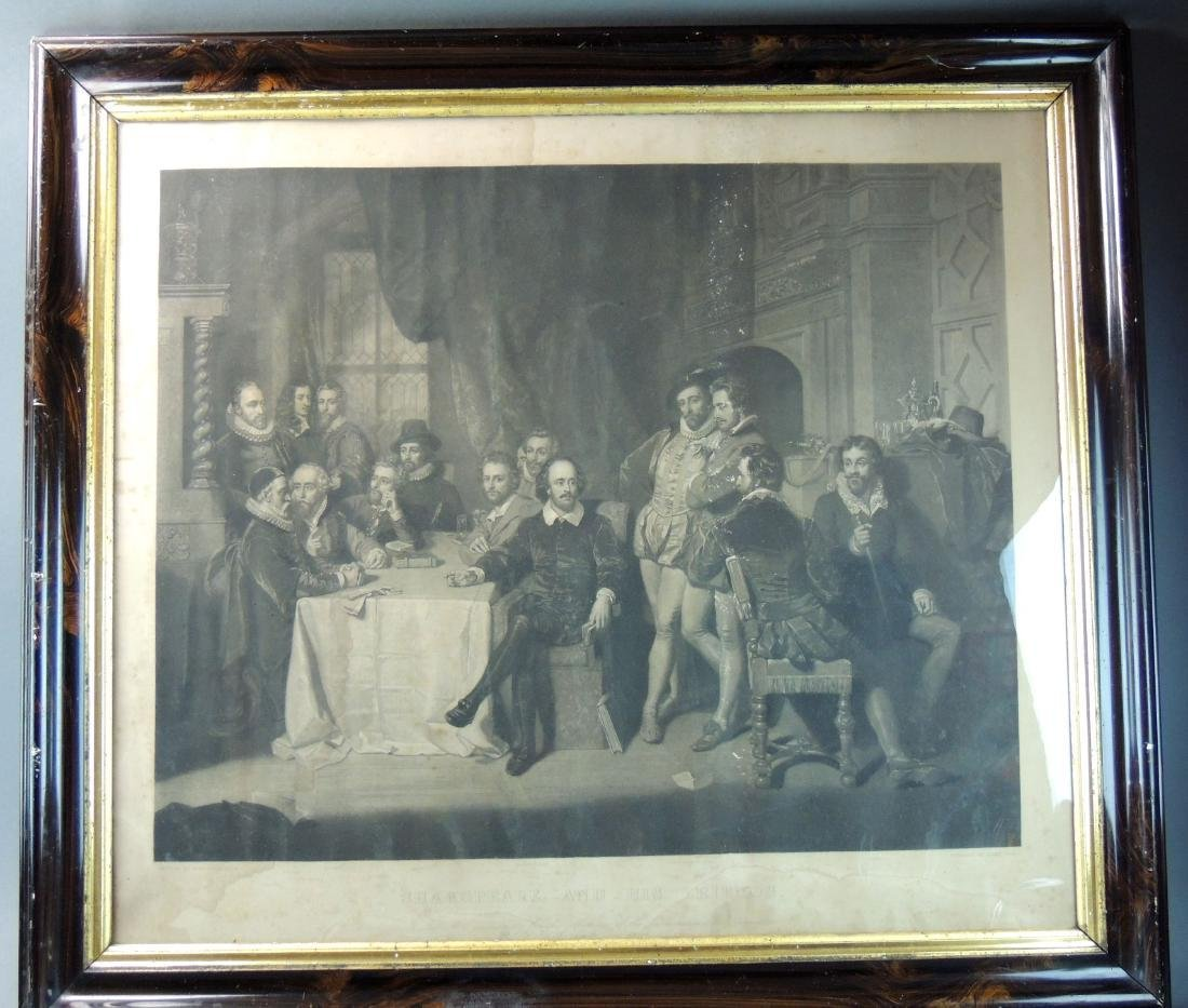 1859 Shakspeare & His Friends Engraving Print