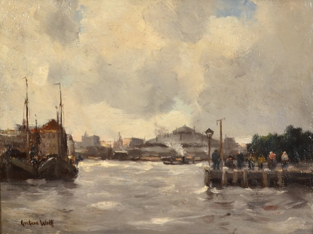 Gustave Wolff: Docks at Battery Park