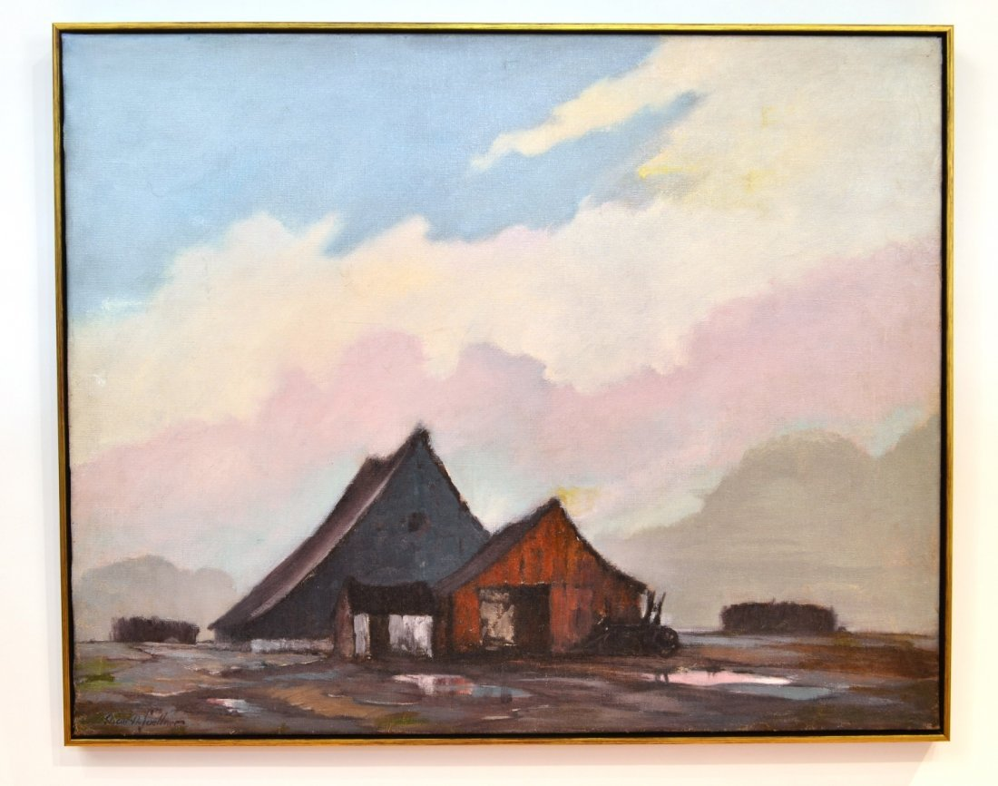 Oscar Daniel Soellner: Landscape with Barns