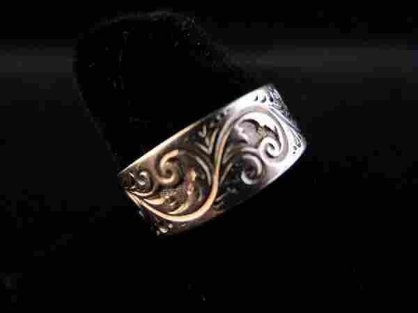 k Rose Gold Victorian Engraved Ring
