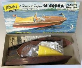 Vintage 1956 Sterling Chris Craft Cobra Boat Model Kit