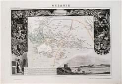 Levasseur: Map of Oceania & Australia, 1850