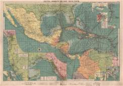 Philip & Son: Map of Central America Caribbean, 1914