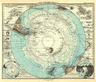 Berghaus: Map of Sud Polar-Karte, 1881