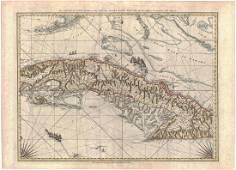 Jefferys/Sayer: Map of Cuba, Cayman Islands, 1775