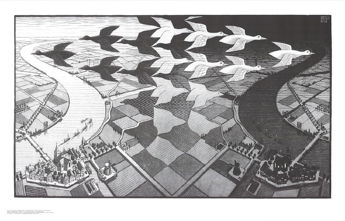 M.C. Escher - Day and Night