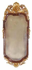 Walnut Queen Anne Mirror, Danish, c. 1760