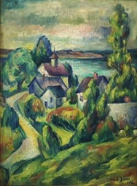 Village Landscape by Ernest Fiene, 1921