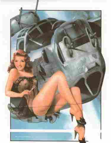 WWII Nose Art Pin-Up Rita Hayworth B52 Bomber Ltd Ed - May 28, 2017 |  Jasper52 in NY