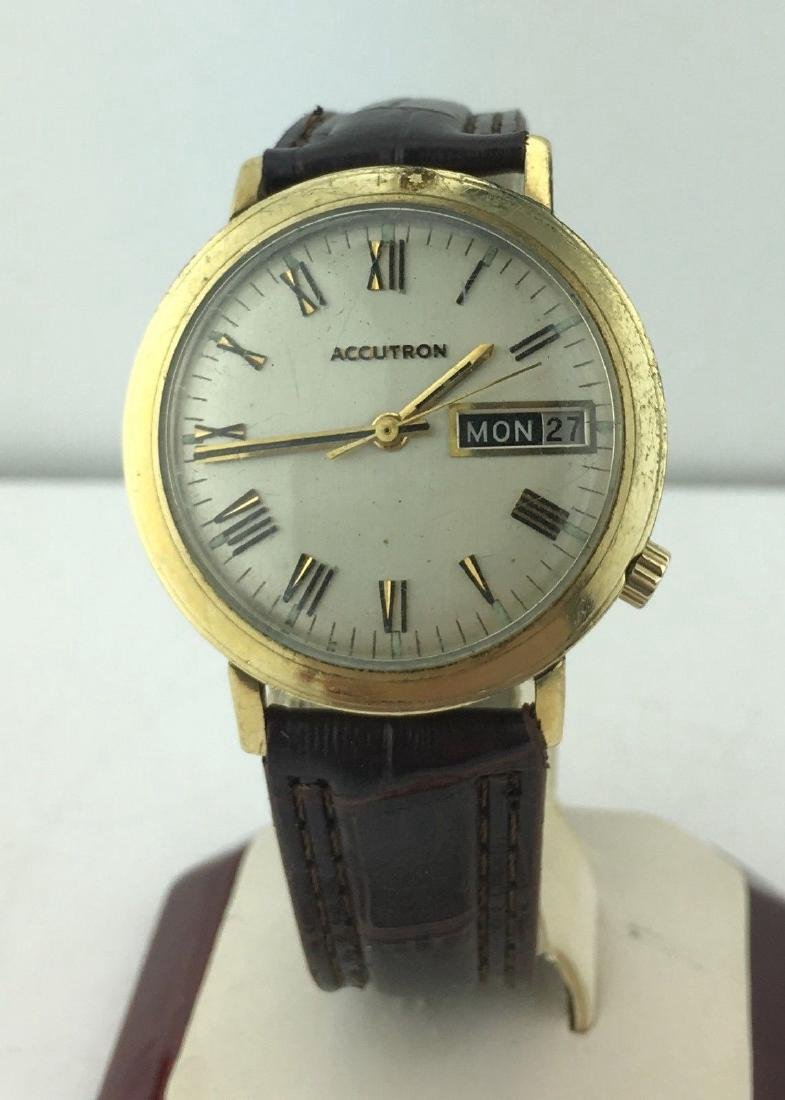 Accutron 14k Gold Filled Day Date Watch