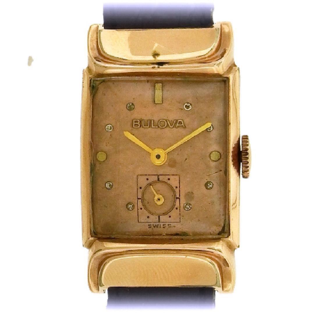 Bulova C 1940 Art Deco Rose Gold Watch