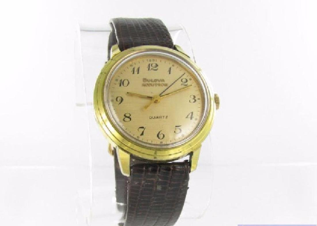 Vintage Gold Filled With Stainless Steel Bulova Watch