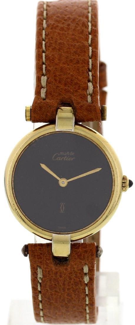 Ladies Must De Cartier Vermeil Argent Watch