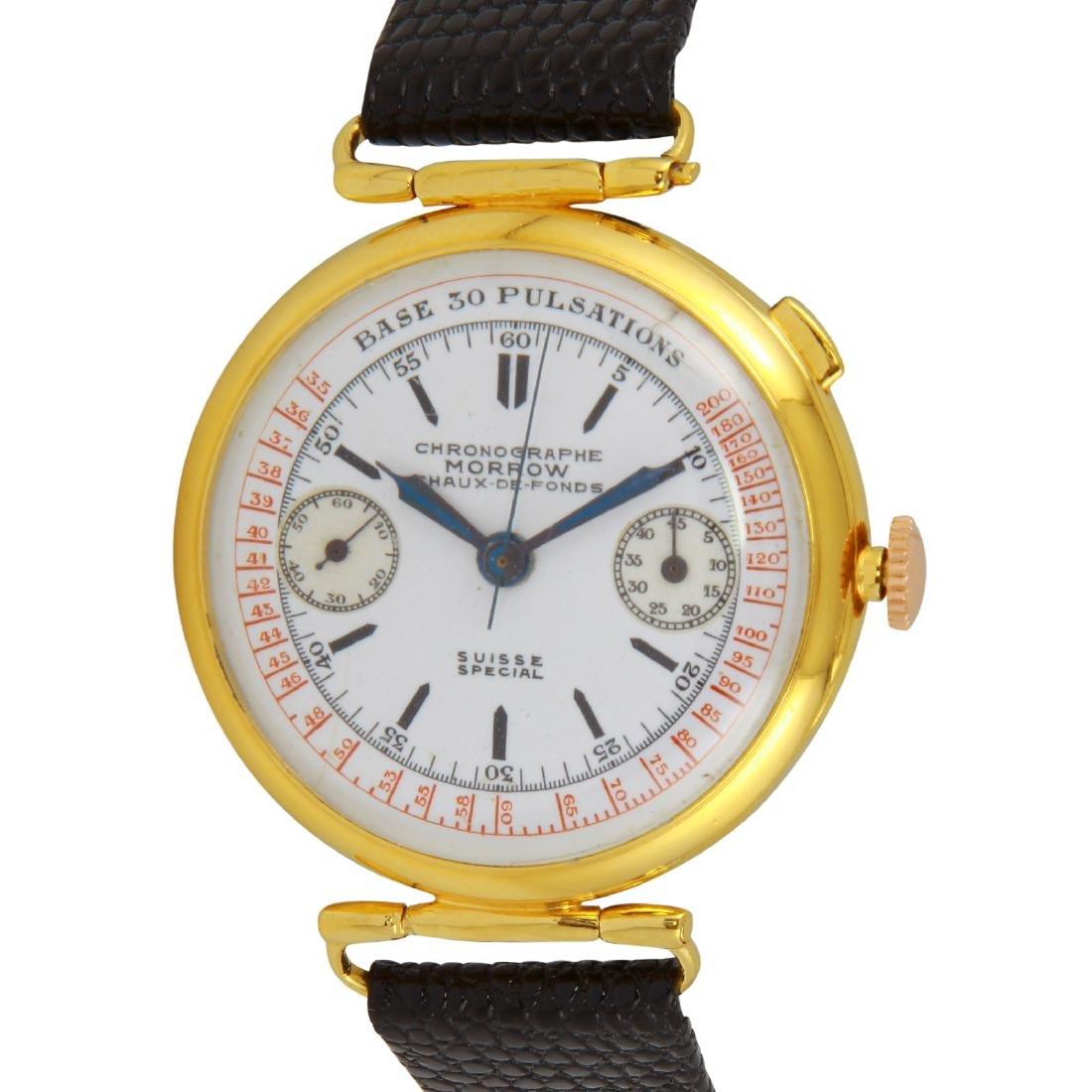Morrow Chronographe Chaux-de-fonds Enamel Watch