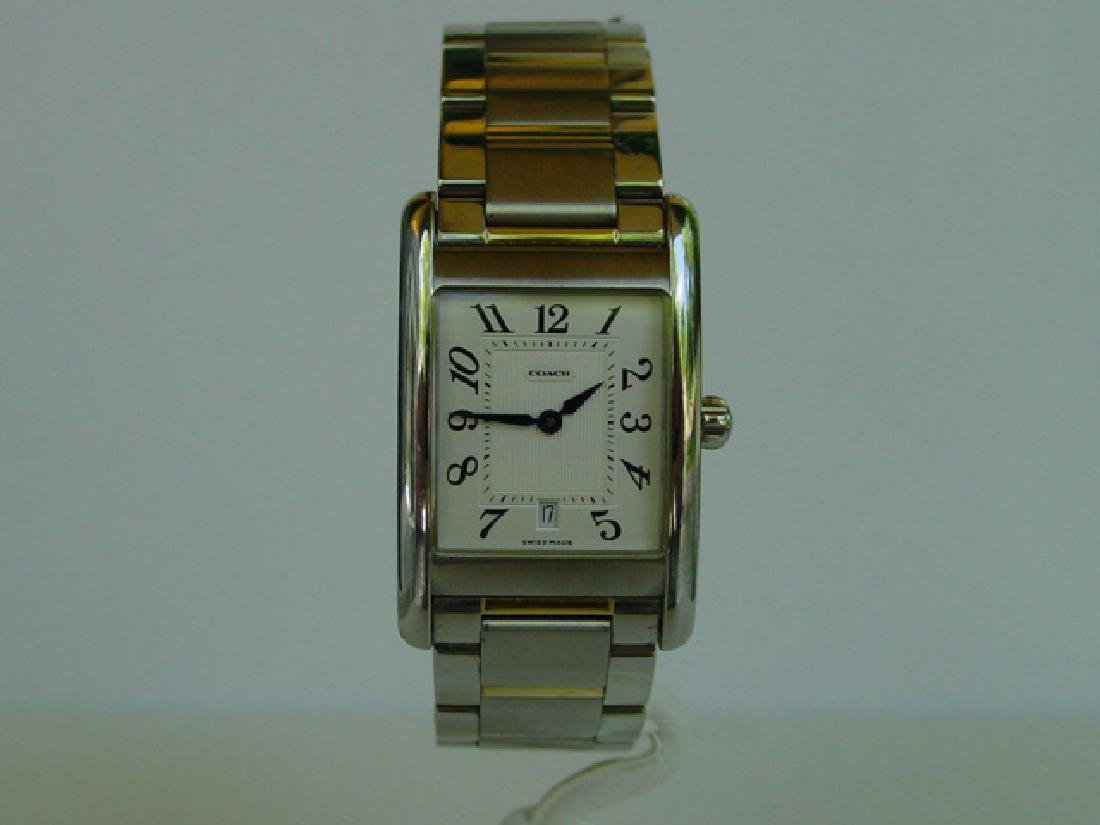 Mens Gold Plated & Stainless Steel Coach Wristwatch