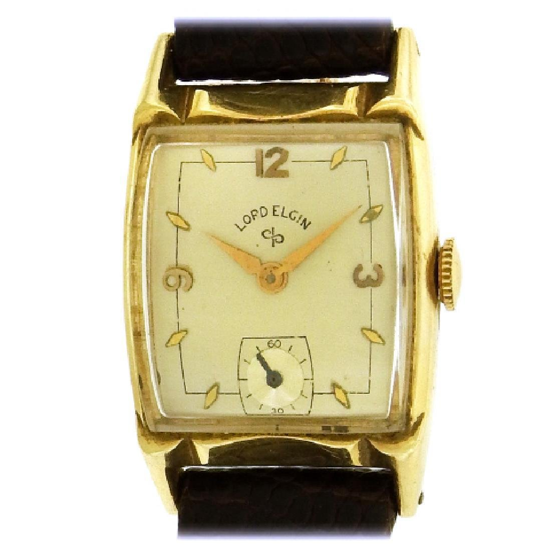 Lord Elgin Vintage 14k Yellow Gold C 1940 Watch