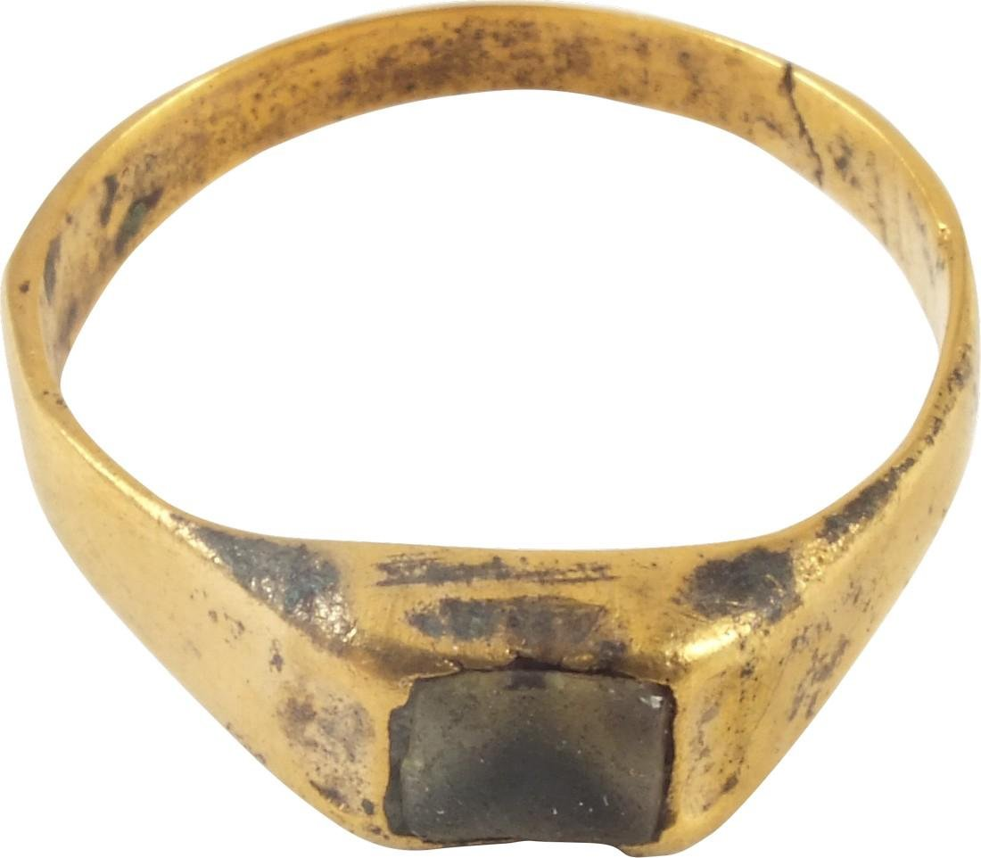 Medieval Ring Complete With Stone C.13th-15th Century