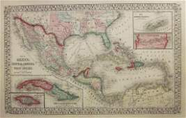 Mitchell: Map of Mexico, Central America, West Indies