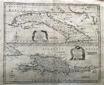 Bowen: Map of Cuba/Hispaniola & Porto Rico, 1747