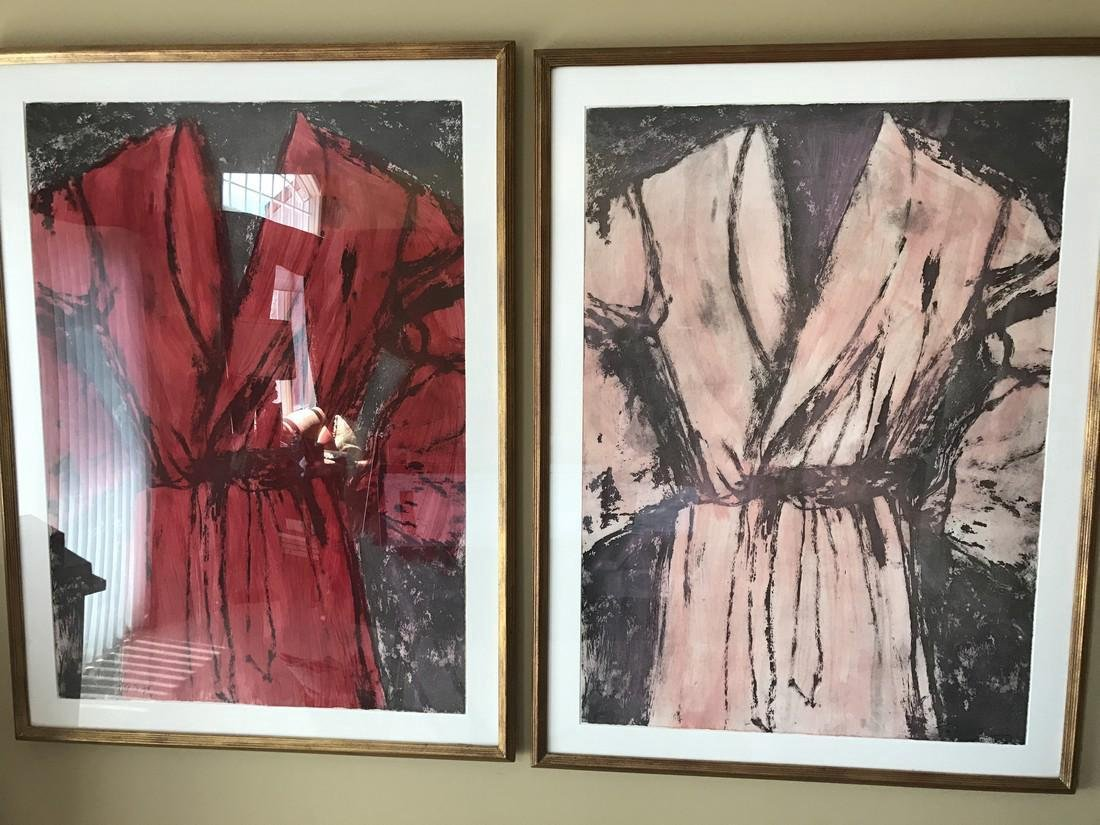 Jim Dine: Magenta and Rose Robes Diptych