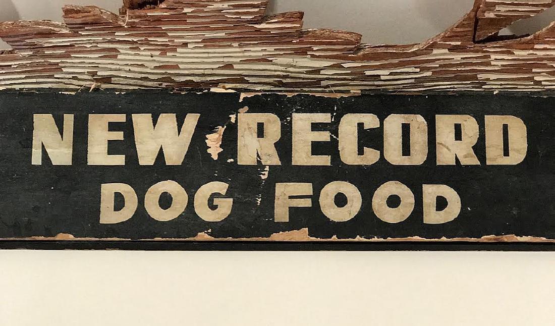 New Record Dog Food Trade Sign - 2