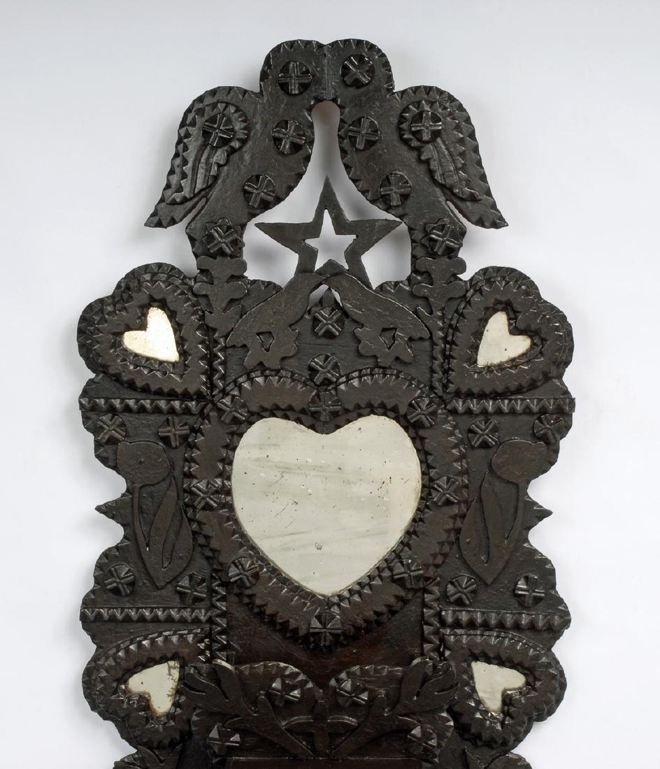 John Zadzora 'Kissing Doves' Tramp Art Wall Pocket - 2